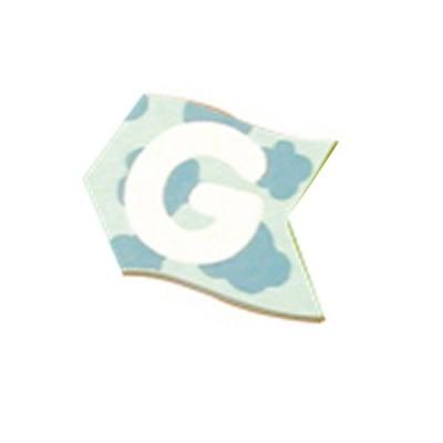 Le Coin des enfants lettre volante en bois : g