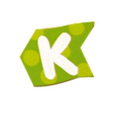 Le Coin des enfants lettre volante en bois : k