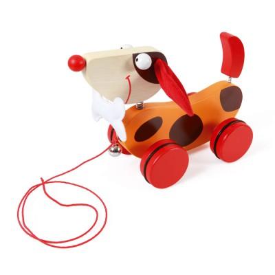 Scratch Europe jouet à tirer : chien rouge oscar