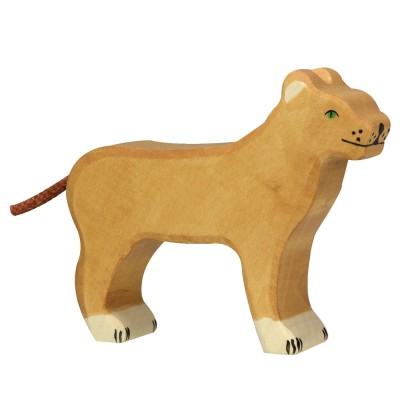 figurine en bois holztiger animaux de la jungle lionne holztiger magasin de jouets pour. Black Bedroom Furniture Sets. Home Design Ideas