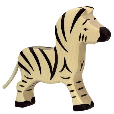 Holztiger Figurine en bois holztiger : animaux de la jungle : zèbre petit