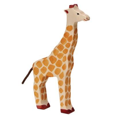 Holztiger Figurine en bois holztiger : animaux de la jungle : girafe