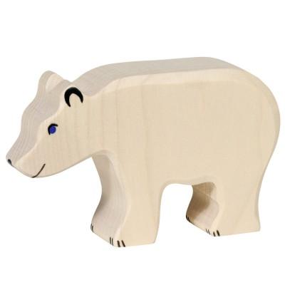 Holztiger Figurine en bois holztiger : animaux de la mer : ours blanc