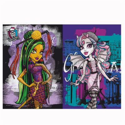 Trefl Puzzle 3D : 50 pièces Morph : Monster High Jinafire, Rochelle, Clawdeen et Draculaura