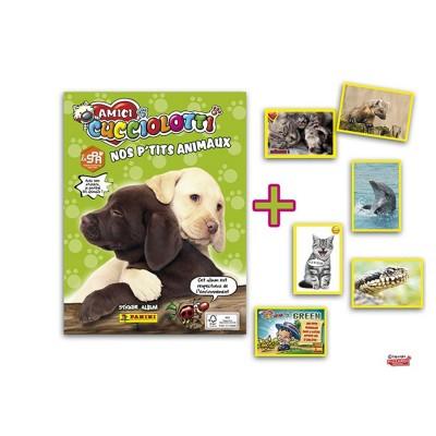 Panini Cartes à collectionner Amici Cucciolotti Nos p'tits animaux : Album et 6 stickers