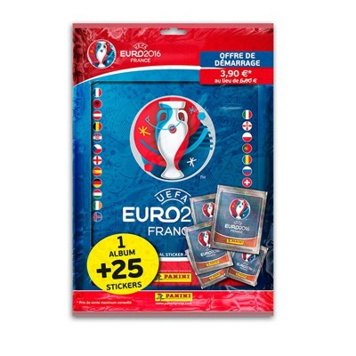 Panini Cartes à collectionner uefa euro 2016 : album et 25 stickers