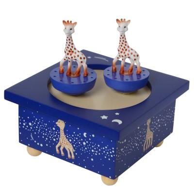 Trousselier Boîte à musique en bois : sophie la girafe : voie lactée