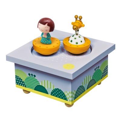 Trousselier Boîte à musique en bois : ninon & girafe