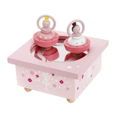 Trousselier Boîte à musique en bois : ballerine rose