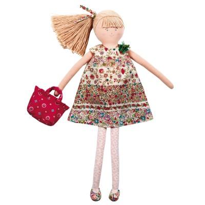 Trousselier Grande Poupée Robe à Fleurs Rouges 50 cm