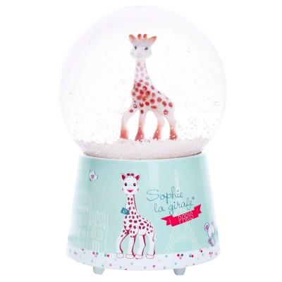 Trousselier Boule à neige musicale en verre : sophie la girafe paris