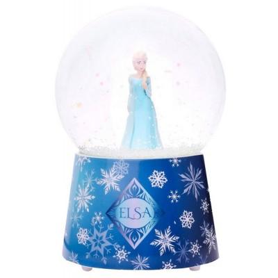 Trousselier Boule à neige musicale en verre : elsa, la reine des neiges (frozen)