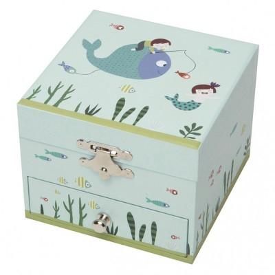 Trousselier Coffret musical cube ninon aquatic