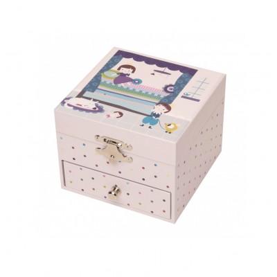 Trousselier Coffret musique cube ninon : prince et princesse