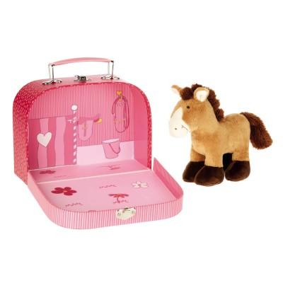 Sigikid Peluche cheval dans sa valise