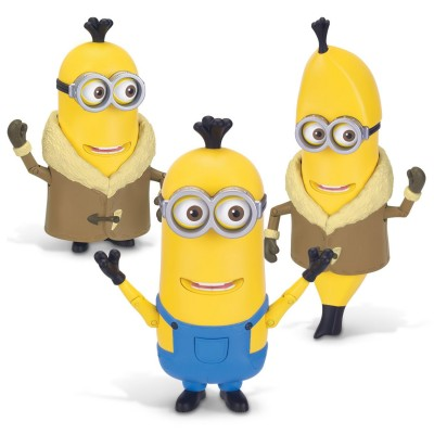 Mtw Toys figurine de luxe minions : build-A-minion arctic kevin/banana