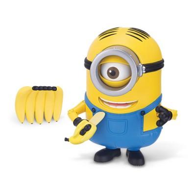 Mtw Toys figurine de luxe minions : stuart grignote des bananes