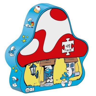Barbo Toys puzzle 48 pièces : puzzle schtroumph maison