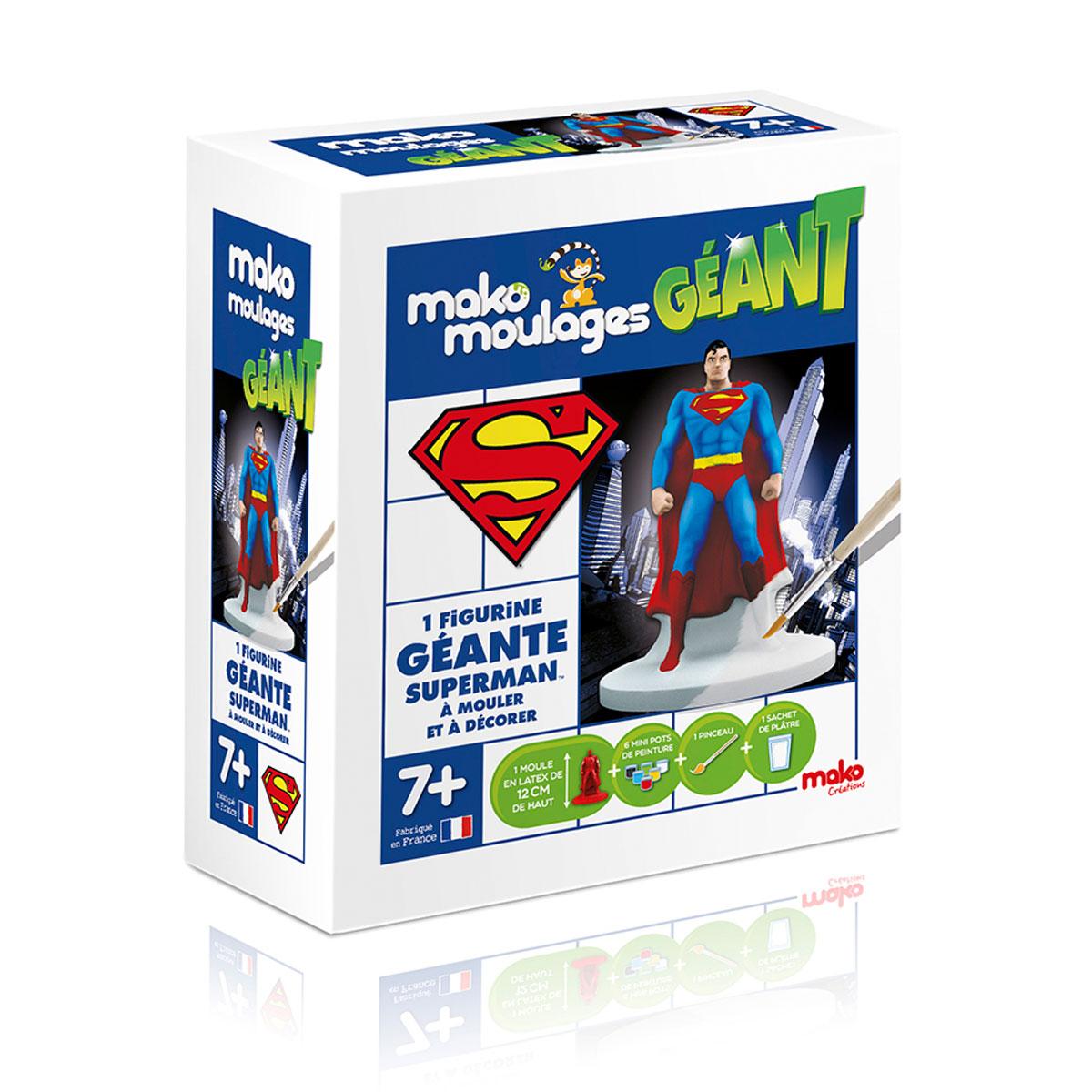 mako 39006 avec mako moulages créez et peignez superman contenu du