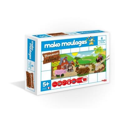 Mako Creations moulage en plâtre mako moulages : 3 moules ferme