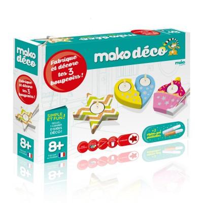 Mako Creations mako déco : fabrication et décoration 3 bougeoirs