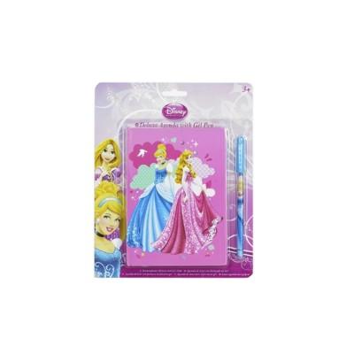 Sambro Agenda deluxe avec stylo encre pailletée : princesses disney