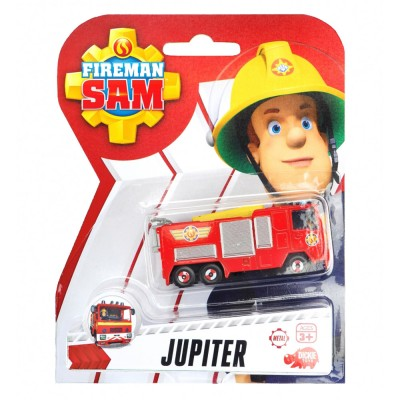 Dickie Toys véhicule en métal sam le pompier : camion jupiter