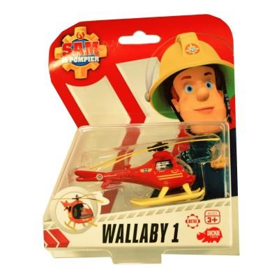 Dickie Toys véhicule de secours sam le pompier : hélicoptère wallaby