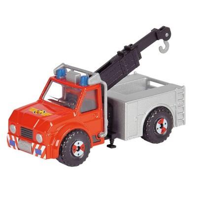 Dickie Toys véhicule de secours sam le pompier : camion avec treuil phoenix