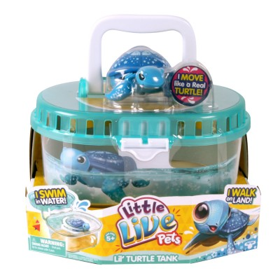 Kanai Kids Tortue électronique Little Live Pets : Stella la tortue magique et son aquarium