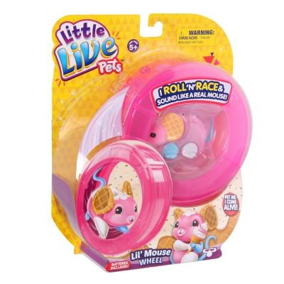 Kanai Kids Souris électronique Little Live Pets : Gaufrette et sa roue rose