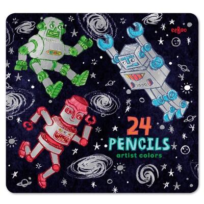 Eeboo Crayons de couleur : robots