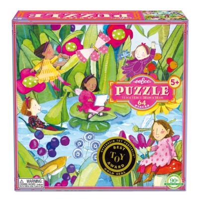 Eeboo Puzzle 64 pièces : les bonnes fées autour de l'étang