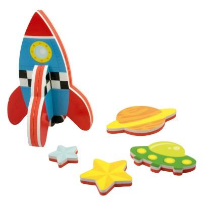 Meadow Kids autocollants pour le bain : fusée
