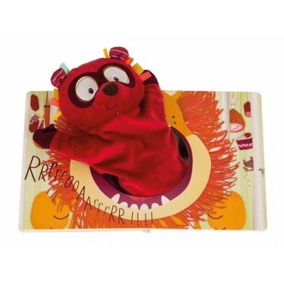 Lilliputiens Livre ohey peanuts avec marionnette georges le lémurien