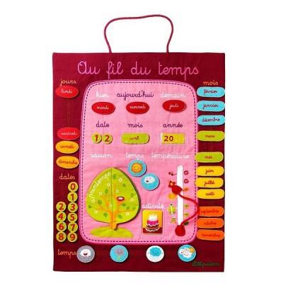 calendrier au fil du temps mauve lilliputiens magasin de jouets pour enfants. Black Bedroom Furniture Sets. Home Design Ideas