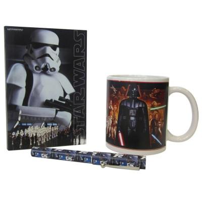 Sahinler Coffret mug cahier et stylo star wars