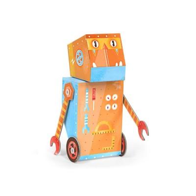Krooom Jouet à plier : fold my robot! : robot mécanicien