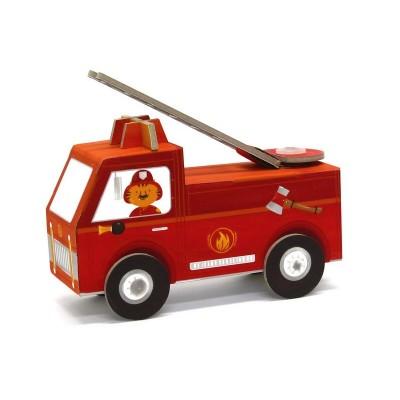 Krooom Jouet à plier : Fold my car! : Camion de pompiers