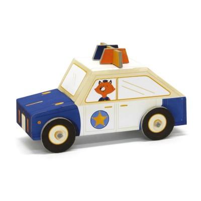 Krooom Jouet à plier : fold my car! : voiture de police