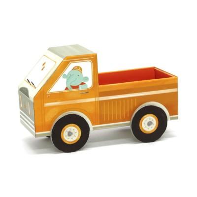 Krooom Jouet à plier : fold my car! : camionnette à remorque