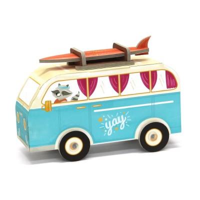 Krooom Jouet à plier : fold my car! : minibus hippie