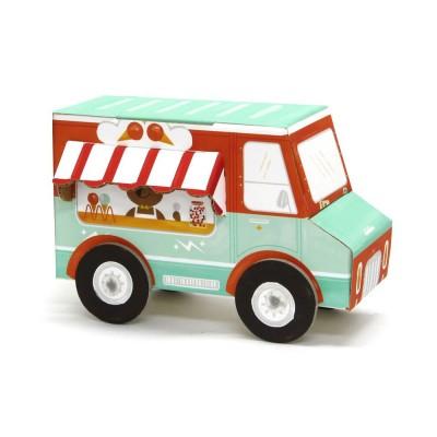Krooom Jouet à plier : Fold my car! : Camion de glaces