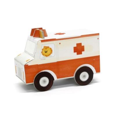 Krooom Jouet à plier : fold my car! : ambulance