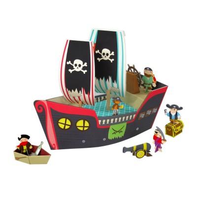 Krooom Ensemble de jeu à assembler : bateau de pirates