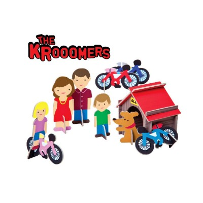 Krooom Figurines à assembler : les krooomers