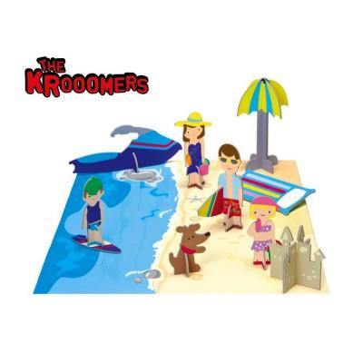 Krooom Figurines à assembler : les krooomers à la plage