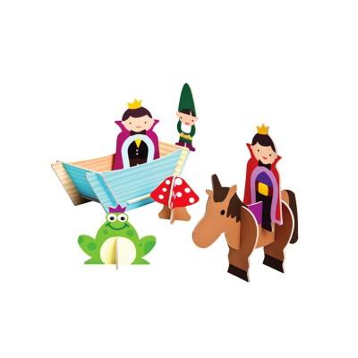 Krooom Figurines à assembler : les féériques : princes félix et orlando
