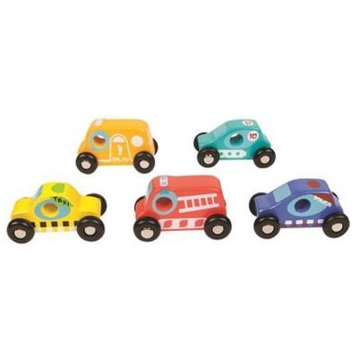 Boikido Voitures en bois : set 5 voitures