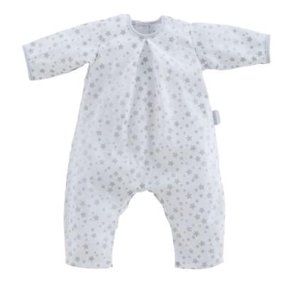 Corolle Vêtement pour poupon 52 cm Bébé Chéri : Pyjama blanc étoiles